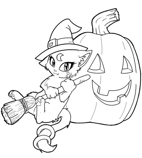 coloring pages of a black cat for halloween cute cat coloring pages bestofcoloring com