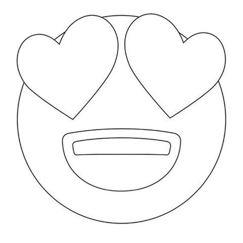 printable emoji eyes emoji coloring pages heart eyes emoji coloring sheets