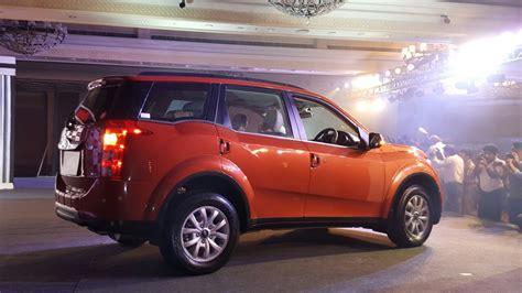 mahindra new model mahindra xuv500 new model pics side sunset orange