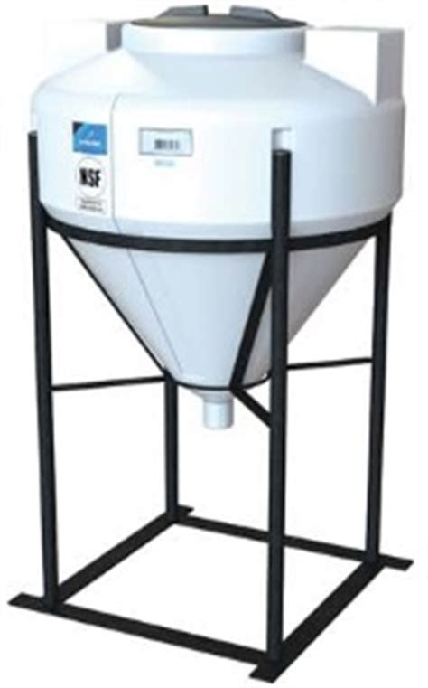 inductor tank with stand in0040 30 40 gallon 55 deg fully draining cone tank