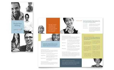 Private Bank Tri Fold Brochure Template Word Publisher Free Bank Brochure Template