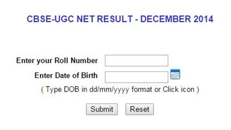 net pattern dec 2014 cbse ugc net result december 2014 at cbseresults nic in