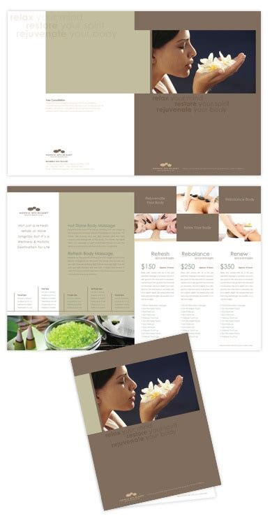salon layout template 17 best images about spa brochures on pinterest