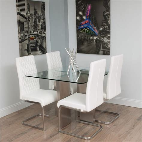Overstock Introduces New Designer Store by Square Glass Dining Table