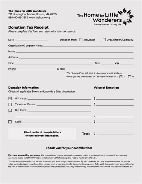 donation receipt templates profit word