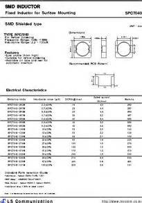 datasheet for inductor datasheet for inductor 28 images spc7040 100m datasheet smd inductor fixed inductor for