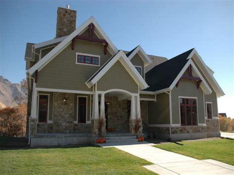 craftsman exterior details modern house plan modern