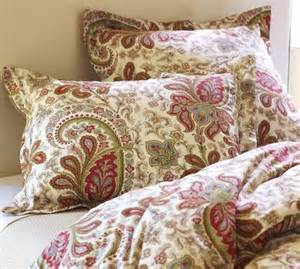 what goes in a duvet paisley shams from pottery barn for our bedroom