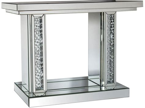 mirror console nysa mirrored console table accent mirror casye