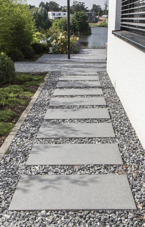 Platten Für Einfahrt by Die Besten 25 Kies Ideen Auf Kies Terrasse