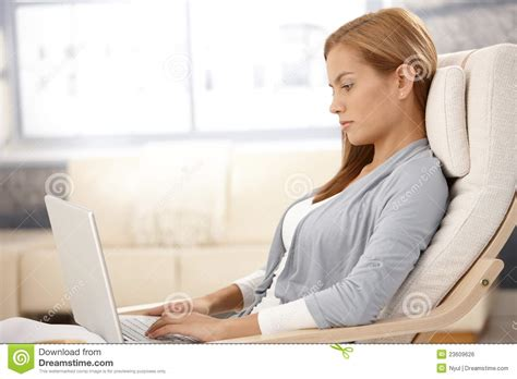 attractive computer attractive with computer royalty free stock image