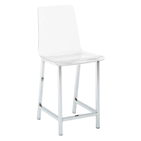 Clear Water Stool by Cefalu Modern Clear Counter Stool Eurway Furniture