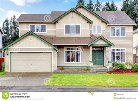 new home house exterior stock photo image of setting classic new northwest american large house exterior stock