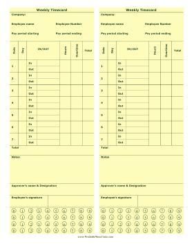 punch time card template weekly punch time card time card