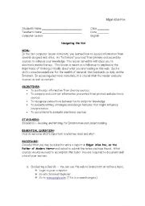 edgar allan poe biography handout english teaching worksheets edgar allan poe
