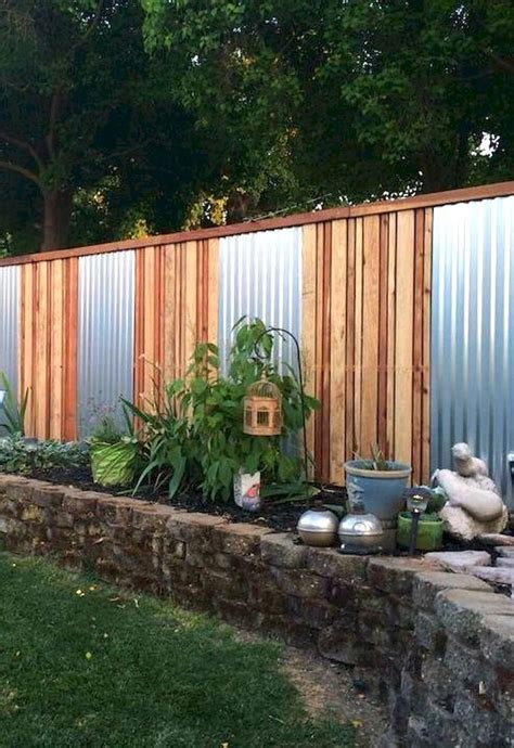 corrugated metal fence ideas 37 stylish privacy fence ideas for outdoor spaces thefischerhouse