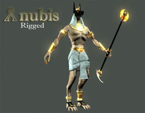Anubis 3d Model rigged anubis 3d model
