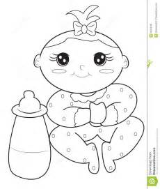 baby coloring page stock illustration image 50479150