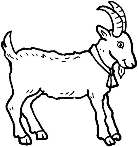cartoon goat coloring page picture of a goat in farm animal coloring page kids play