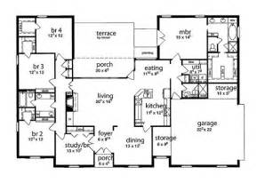 House Plans 5 Bedroom by Floor Plan 5 Bedrooms Single Story Five Bedroom Tudor