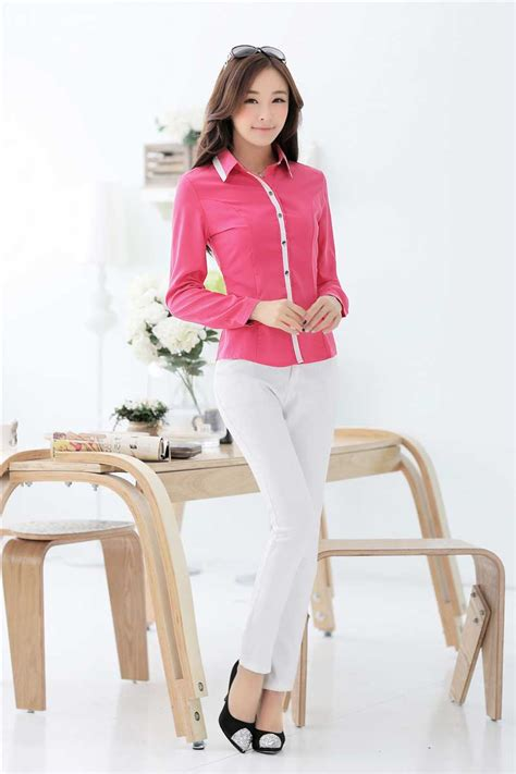 Baju Murah Wanita Monel Pink Kemeja kemeja wanita pink lengan panjang terbaru model terbaru jual murah import kerja