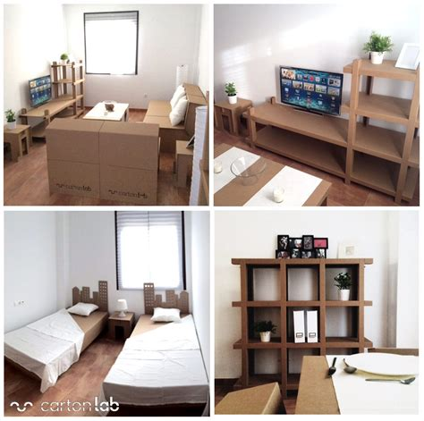 Furnishing An Apartment home staging cardboard furniture