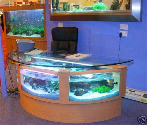 Beautiful Styles Of Fish Aquariums Download Photos Office Desk Fish Tank