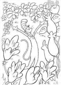 dr seuss coloring page dr seuss coloring pages dr seuss coloring pages cat in