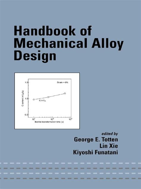 mechanical engineering design criteria documentation handbook of mechanical alloy design mechanical