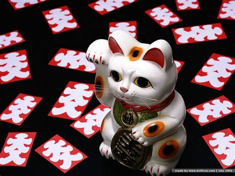 wallpaper japanese cat maneki neko photo japanese beckoning cat wallpaper 22