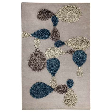 polyester vs wool rugs kalista tufted wool and polyester rug in grey and blue dcg stores