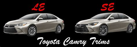 Toyota Camry Le Vs Se Toyota Archives Carver Toyota