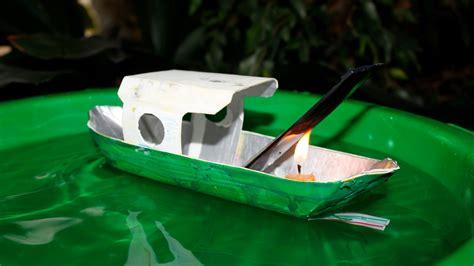 barco a vapor de barco a vapor caseiro pop pop boat como fazer