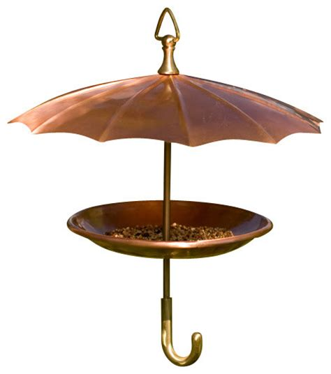 copper umbrella bird feeder eclectic bird feeders by