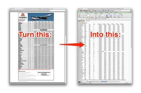 freightgate pdf to excel converter public beta