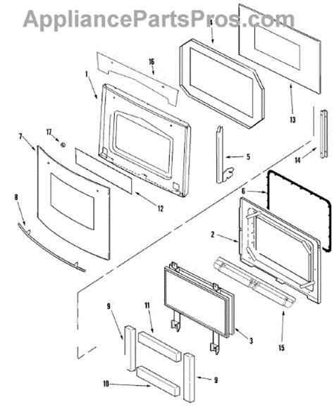 jenn air oven parts diagram parts for jenn air jjw9827dds door parts