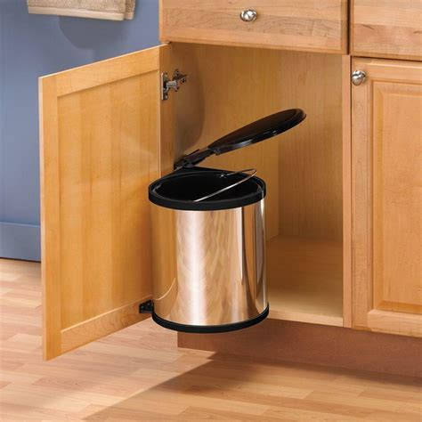Sink Trash Can With Lid by Kitchen Sink In Cabinet Trash Can Lid Waste