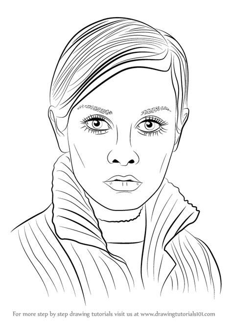 Step by Step How to Draw Twiggy : DrawingTutorials101.com