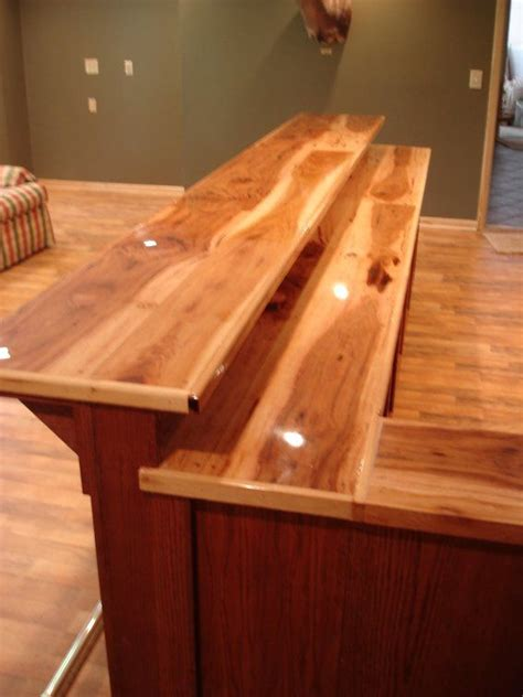 oak bar tops custom bar top ideas custom made oak bar with hickory