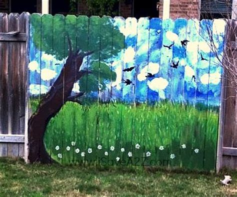 painting backyard fence 17 images about painted fences on pinterest gardens