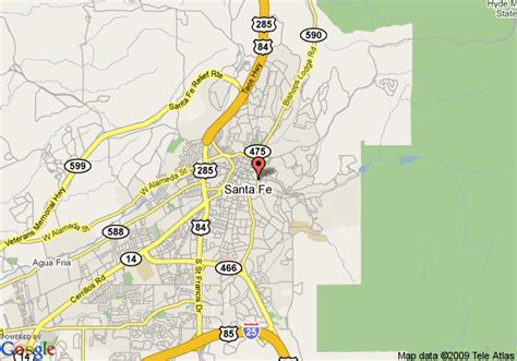 where is santa fe on the map map of inn on the alameda santa fe