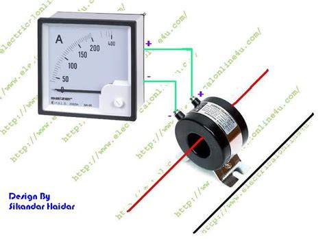current transformer connection to meter diagram how to wire ammeter with current transformer ct coil