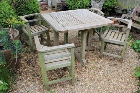 weathered teak garden set retailed through heals latest
