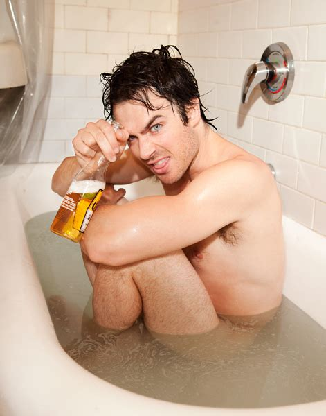 naked bathtub pictures photos ian somerhalder got naked and had a beer in the