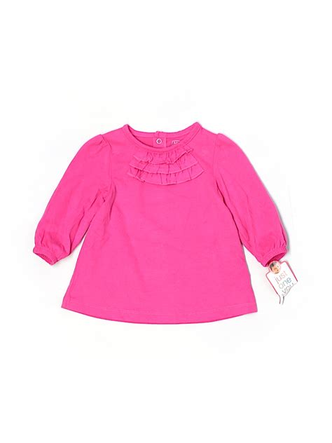 Mo 632 Longsleeve Top s 100 cotton solid pink sleeve top size 9 mo 35 thredup