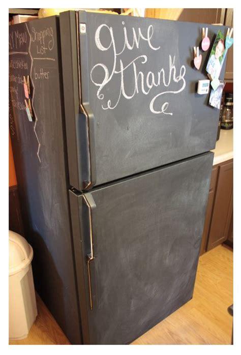 painting chalkboard paint on a refrigerator 17 best ideas about chalkboard fridge on