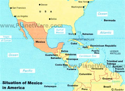 south america map and mexico map of mexico mexican states planetware