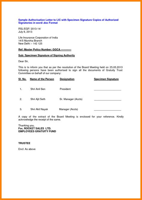 Job Application Resume Format Sample by 3 Authorised Signatory Letter Format Biodata Sample