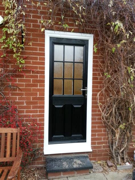 Black Upvc Front Door 25 Best Ideas About Black Composite Door On Composite Siding Porch Stairs And