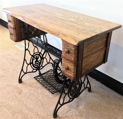 sewing machine desk ideas handmade singer treadle sewing machine desk by benny
